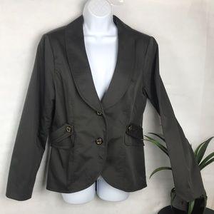 CAbi jacket dark gray peplum back #769